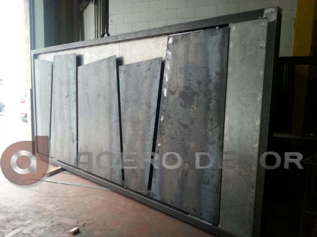 Puerta corredera de acero de dise o en madrid acero decor - Puertas correderas de diseno ...
